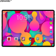 Планшетный ПК 2.5D экран стекло 10,1 дюймов Android 7,0 3G звонок 4 Гб 64 Гб Восьмиядерный OTG gps FM Bluetooth WiFi Две sim-карты планшетный ПК