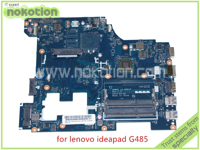QAWGE LA-8681P Rev 1.0 Laptop Motherboard for lenovo ideapad G485 14'' DDR3 CMC70 Mainboard brand new ziwb2 ziwb3 ziwe1 la b092p rev 1 0 for lenovo b50 70 laptop motherboard mainboard