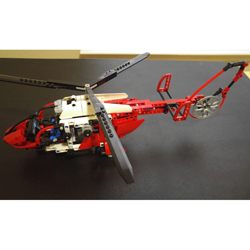 Decool 3355 3356 AeroKing Rescue Helicopter building bricks blocks Toys for children Compatible with Lepin Bela 8068 decool 2114 building blocks military uh 60 black hawk plane airplane helicopter bricks blocks children toys compatible with lego