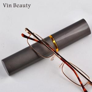 Reading Glasses High Grade Tube Case Eyeglasses Fashion Book with Learning Reading Glasses For Men And Women Dropshipping(China)