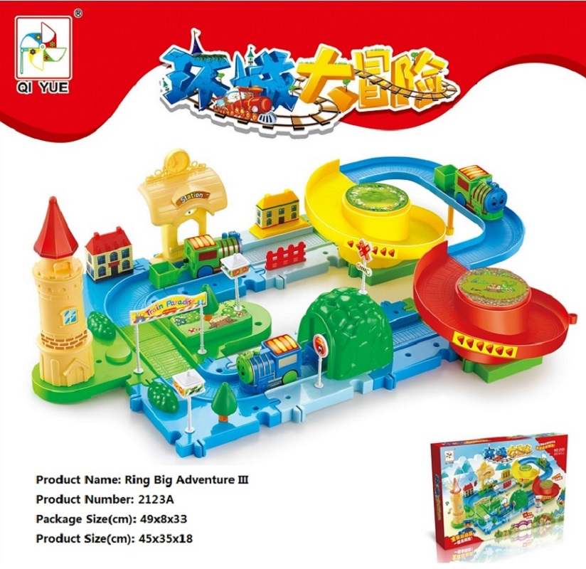 ФОТО Ring Big Adventure III DIY Track Electric Train Building Block Toy Gifts Learning&Educational Toys for Children 2123A Withno Box
