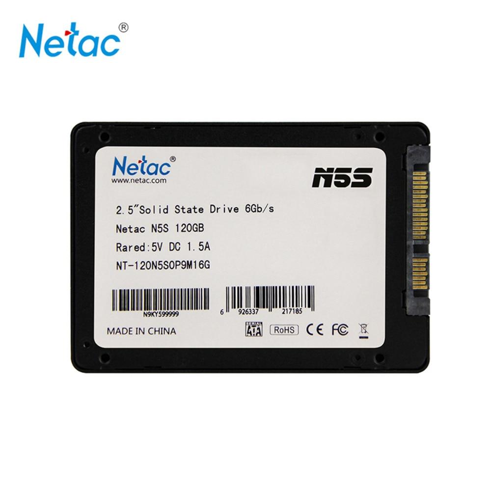 Netac Original N5S SATAIII SSD 120GB 240GB 480GB 2.5 inch Solid State Drive Disk MLC Flash Storage Devices for Desktop Laptop zheino q1 msata sata iii 6gb s ssd 60gb ssd solid state drive mlc flash storage devices disk for desktoo laptop