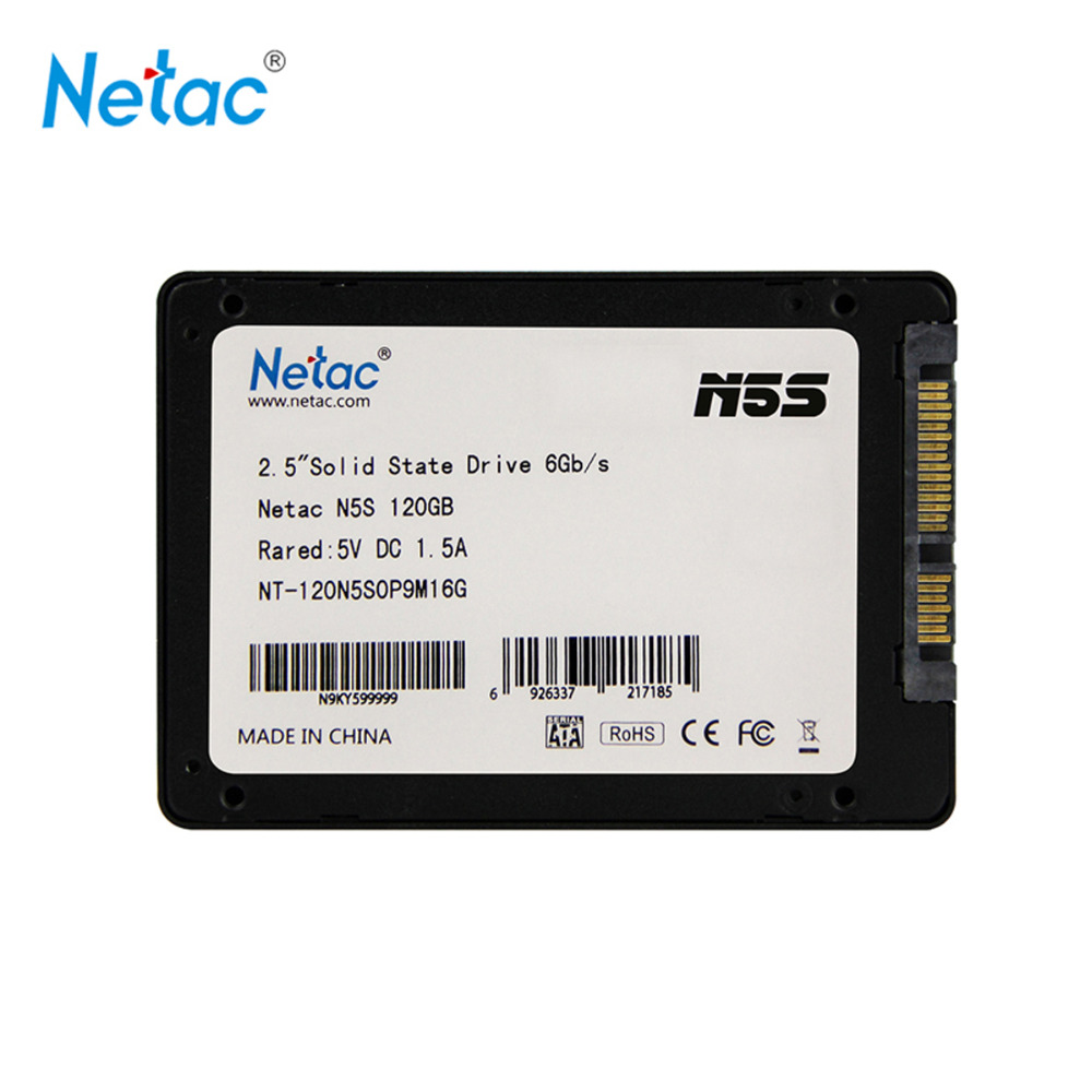 Netac Original N5S SATAIII SSD 120GB 240GB 480GB 2 5 inch Solid State Drive font b