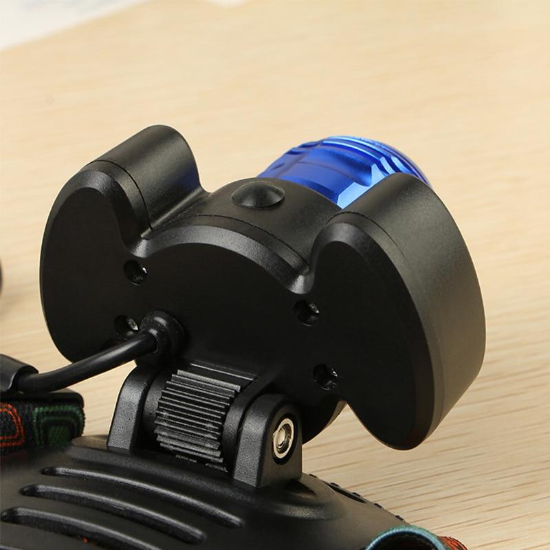 8000lm T6 + 2 * COB Światła Reflektorów zoomable Niebieski - Przenośne oświetlenie - Zdjęcie 6