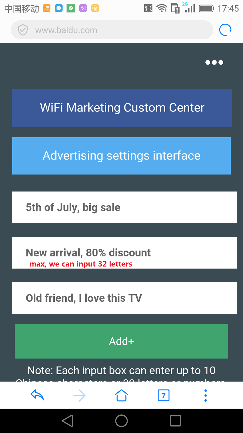 SSID ADS WIFI Hot Spot Advertising Machine Free With OTG Wifi Function USB Adapter Freely Advertisement Wifi AP Point