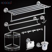 Xogolo Chrome Brushed Copper Bathroom Accessories Bath Towel Shelf Towel Bar Paper Holder Cloth Hook Wholesale