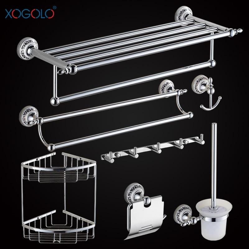 Xogolo Chrome Brushed Copper Bathroom Accessories Bath