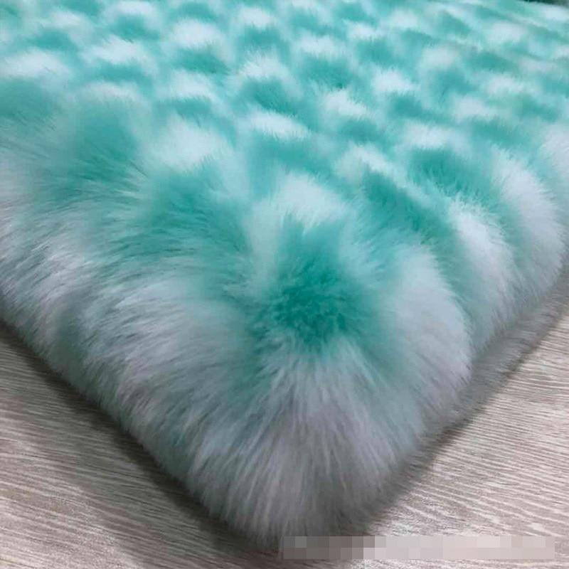 1600g Imitation Rabbit Fur Houndstooth Jacquard Plush Fabric Faux Fur (25mm Pile Long)