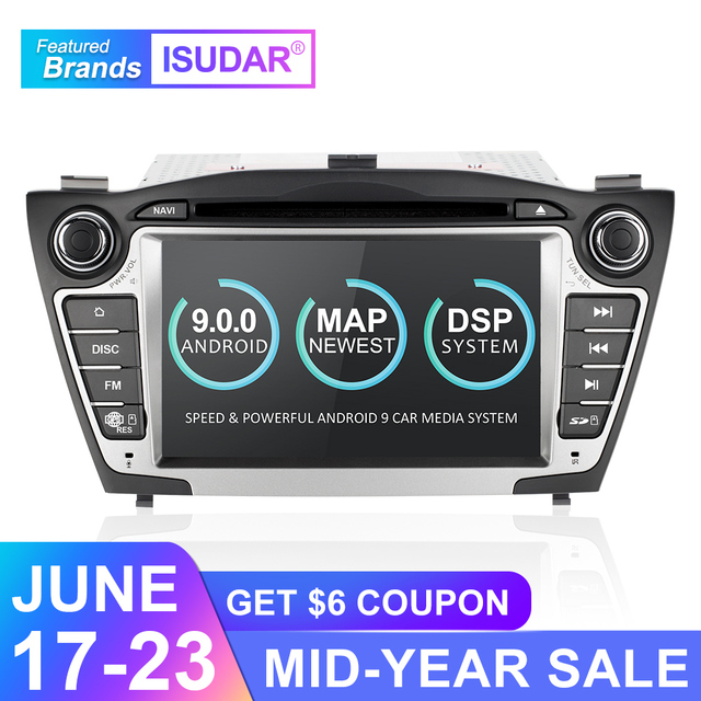 Isudar Car Multimedia Player GPS 2 Din Android 9 For Hyundai/IX35/TUCSON 2009-2015 Canbus Auto Radio USB DVR DVD Player DSP FM