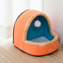 Pet-Dog-Cat-Bed Puppy-House Dog Kennel Pet-Cushion Foldable Warm Soft with Toy-Ball Castle