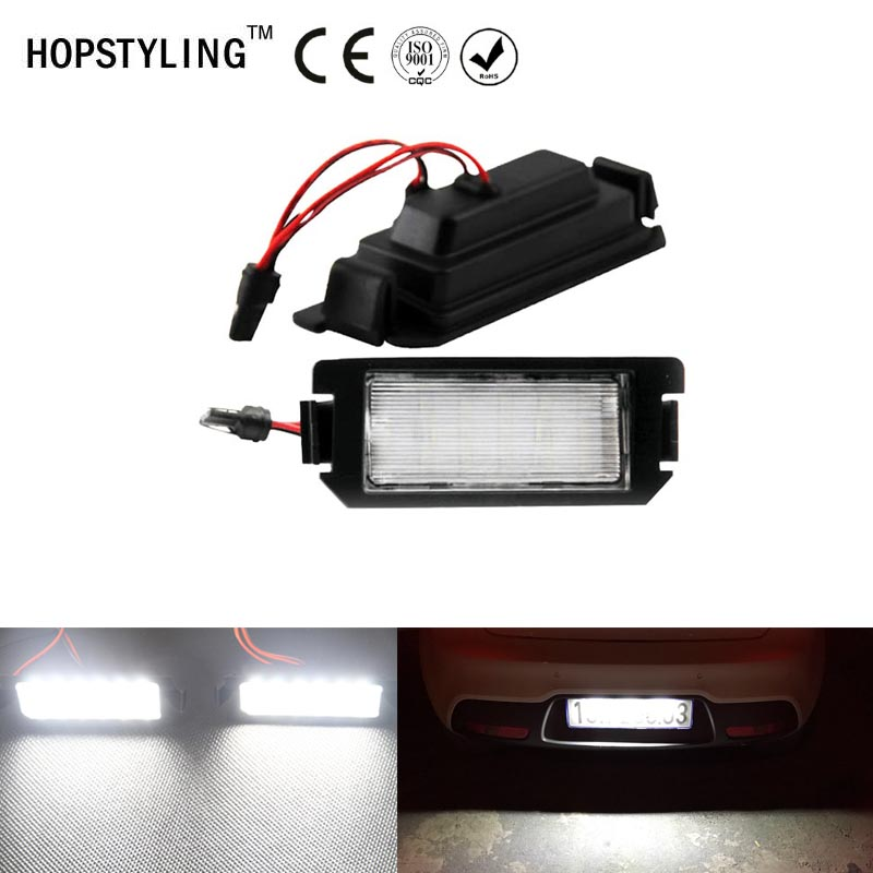 2Pcs No Error LED License plate light For Hyundai Coupe I10 I20 Tiburon Coupe III F L2 Xenon White car tail lamps car-styling 1 pair 6000k car led license plate lamp lights for hyundai i20 veloster fs 11 15 xg 30 98 05 terracan hp 01 06 coupe gk 02 09