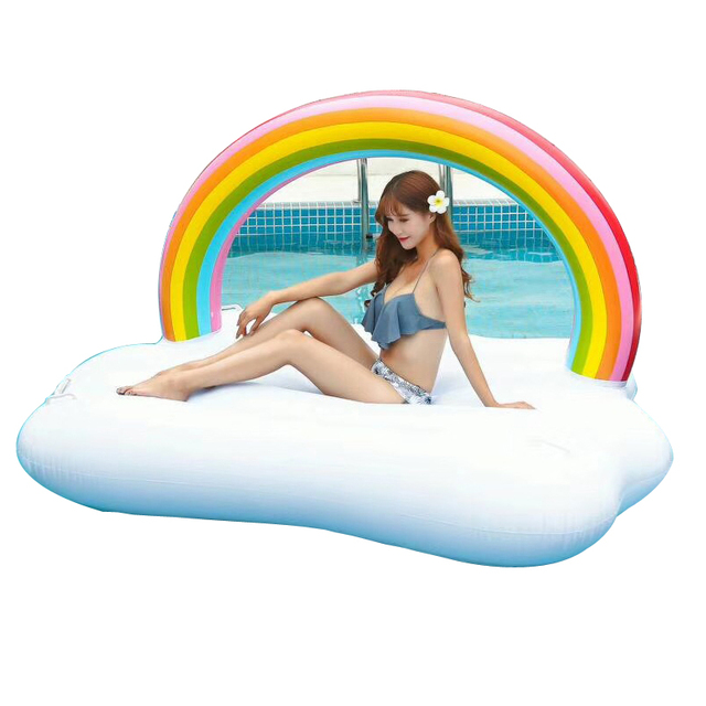 YUYU Cm Gaint Rainbow Pool Float Inflatable Swimming Float - Rainbow pool table