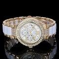Irissshine i0520 Casual Luxury brand relojes de Las Mujeres de señora girl regalo Caliente Nuevo de Las Mujeres Rhinestone Del Cristal de Reloj de Cuarzo Relojes De Diamantes