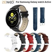 Crocodile Pattern watchband 20mm For Huami Amazift Bip watches straps Samsung Galaxy watch Active Men womens Bracelet Strap