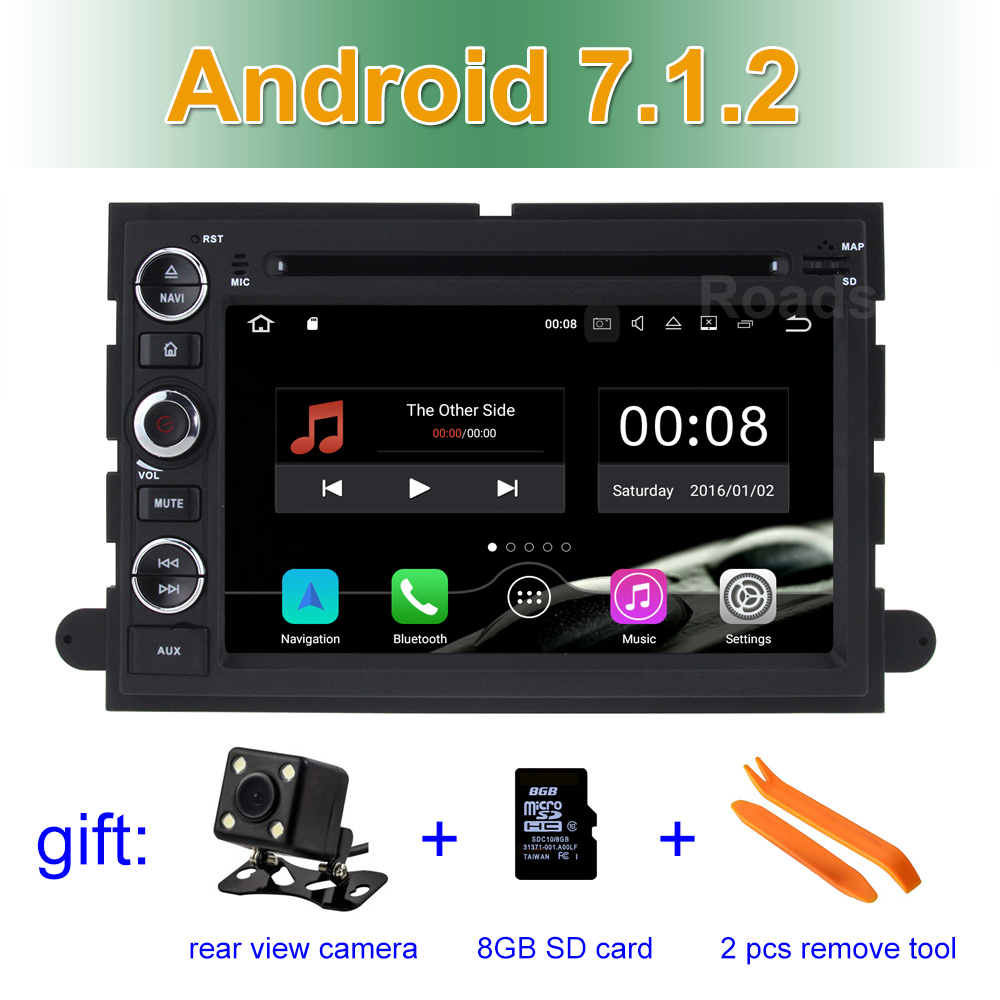 2 GB RAM Android 7.1.2 Car DVD Player for Ford 500/F150/Explorer/Edge/Expedition/Mustang/fusion/Freestyle Wifi BT Radio GPS android 6 0 1 octa core capacitive car pc dvd radio gps for ford focus fusion explorer expedition f150 f500 escape edge mustang