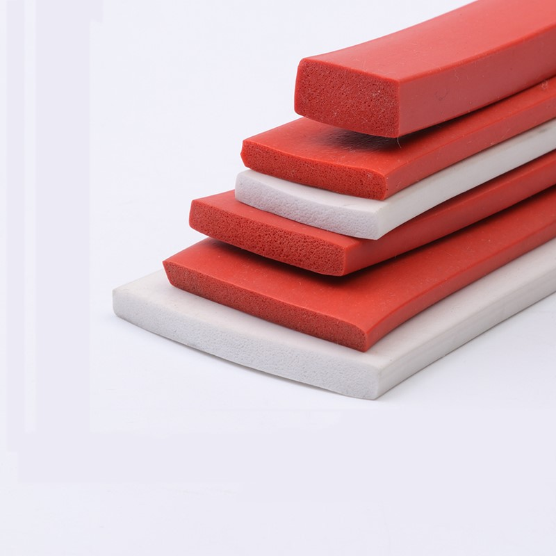 Silicone Foam Strip Heat Insulation 8x4mm 15x15mm 16x14mm 10x2mm 14x14mm 20/25/30/35/40/50mm x 3/5/10/15/20/30mm 42x21mm Red стоимость
