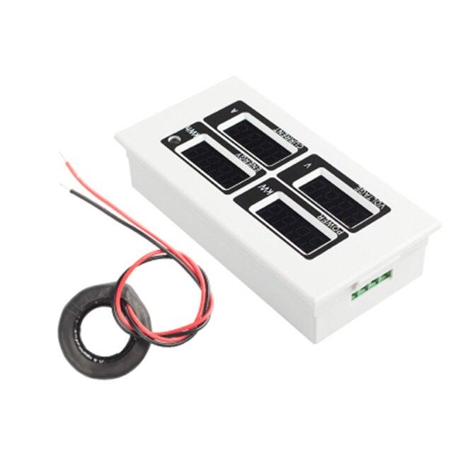 PEACEFAIR однофазный светодиодный AC светодиодный Ватт метр счетчик энергии 220V100A Вольт Ампер Вт кВтч мощность мониторы PZEM-004 с CT катушки