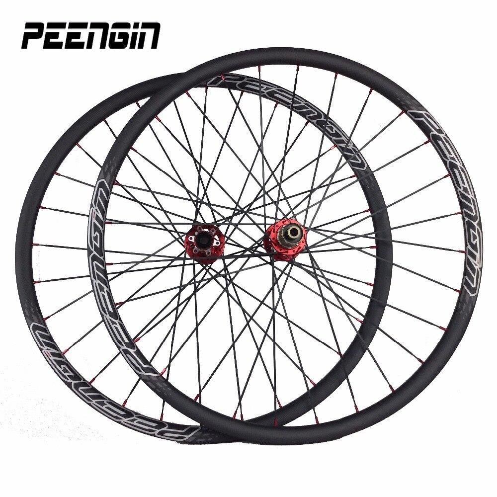 Ruote 29er roues en carbone pour vtt montagne XC Novatec lumière sans crochet jantes en carbone cycle disque frein roues vélo pièces boutique offre spéciale