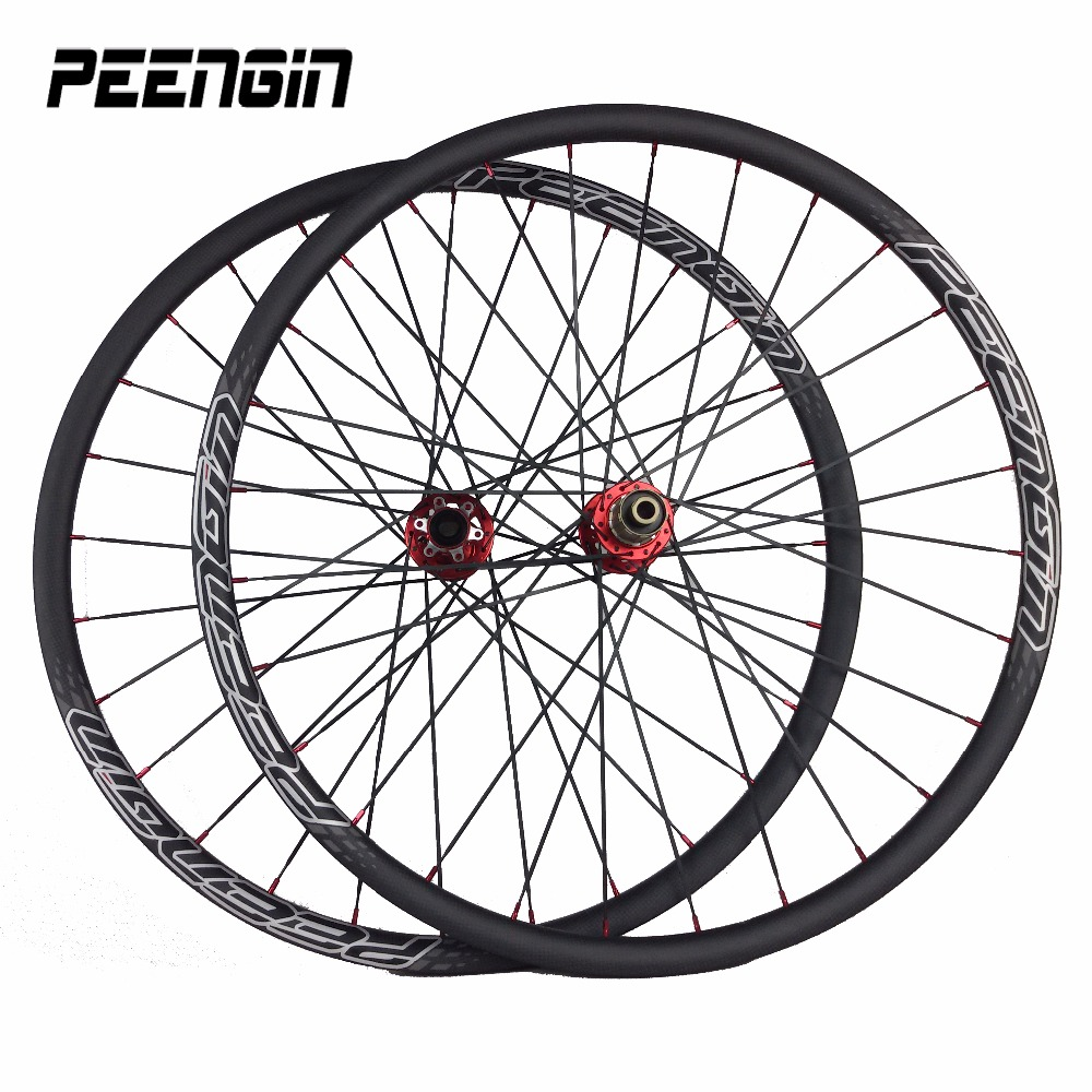 ruote 29er carbon wheels for mtb mountain XC Novatec light hookless carbon rims cycle DISC brake wheels bike parts shop hot sale factory direct mountain bike clincher wheelset 29 inch 27 5er carbon mtb wheels 29er 650b carbon mtb wheels tubeless rims