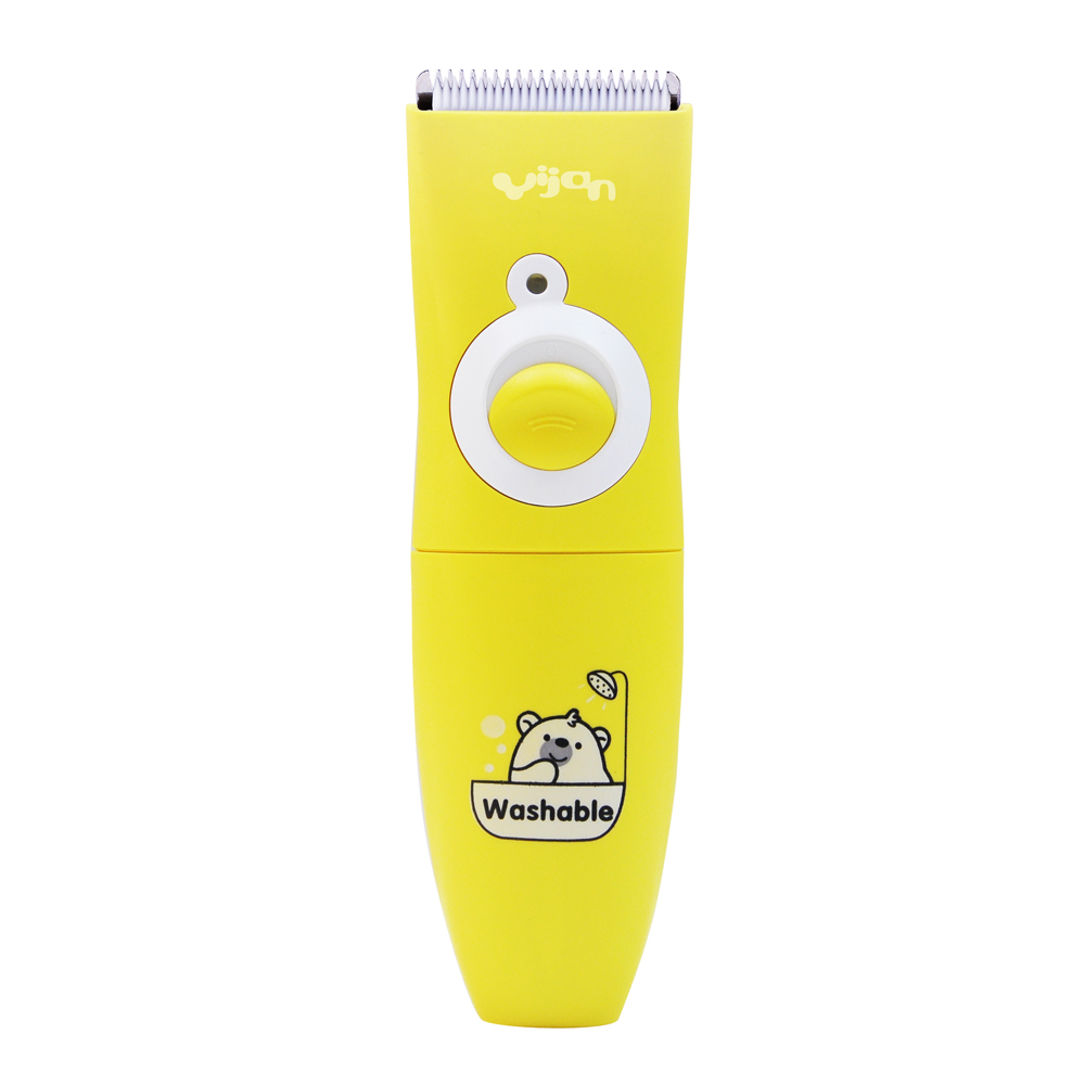 Hair clipper trimmer Kids children Round blade tips protect the skin washable Hairdressing cloth Dry battery operation yijian