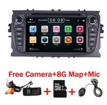 цена на Free Camera +Car radio DVD GPS  for ford mondeo C max Smax 3G GPS Bluetooth Radio RDS USB IPOD Canbus Steering Wheel Control