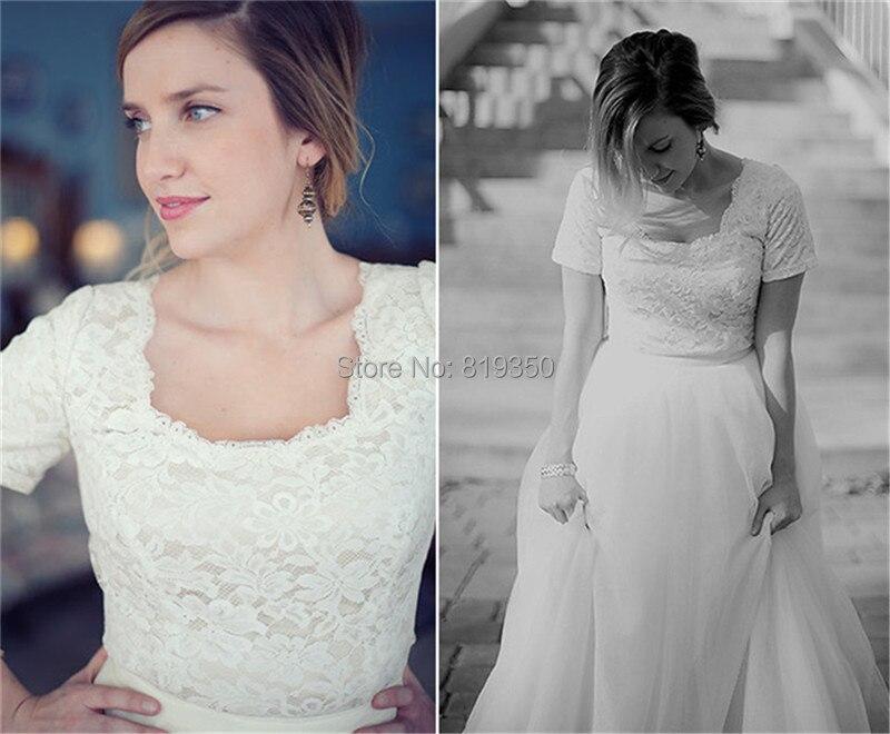 Vintage Summer Beach Wedding Dress 2016 Lace Square