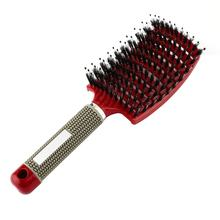 2019 Women Hair Scalp Massage Comb Bristle & Nylon Hairbrush Wet Curly Detangle Hair Brush for Salon Hairdressing Styling Tools(China)