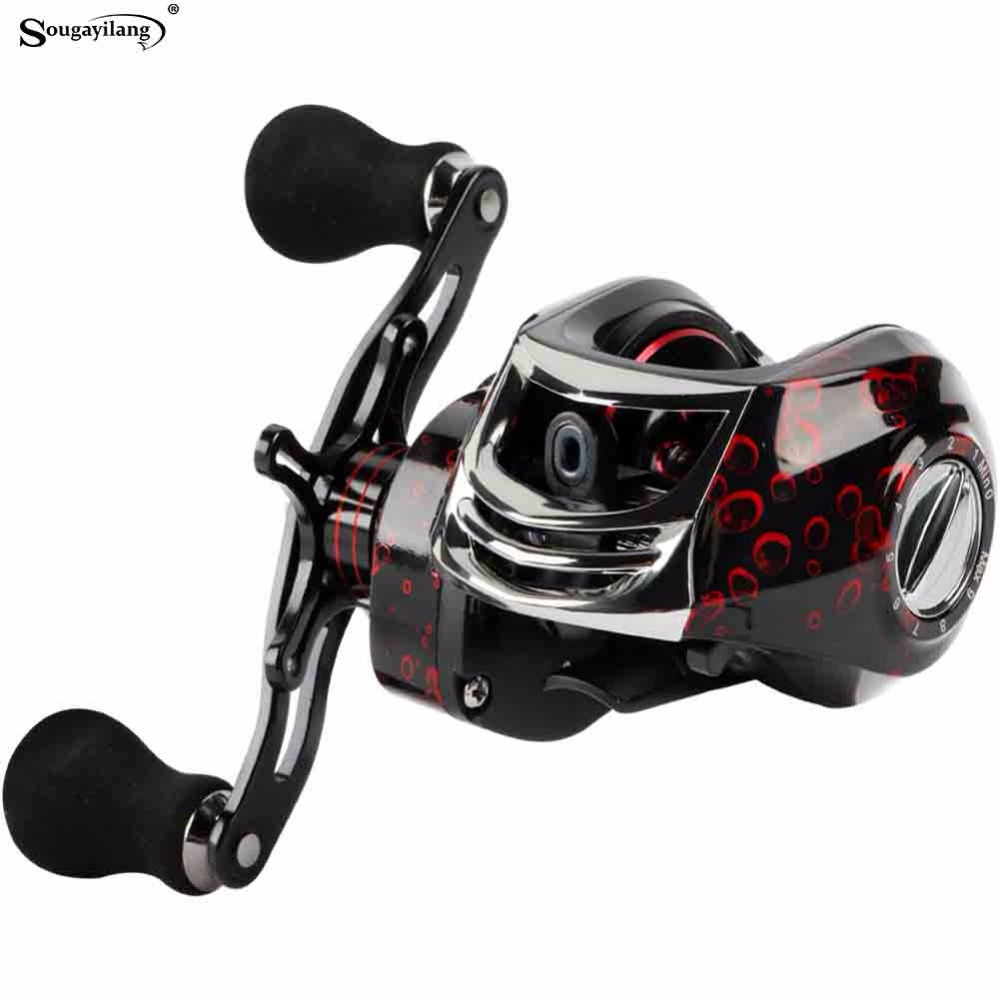 Sougayilang Baitcasting Reel Casting Reel 17+1BB Right /Left Handle Gear 11+1BB Fishing Reel Wheel Fishing Tackle 12KG Max Drag russian style spinning fishing reel red wheel max drag 6kg 5 2 1 gear ratio 9 1bb ball bearings fishing tackle free spoon