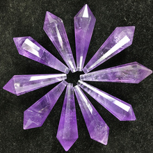 natural amethyst angel pendulum sweater necklace pendant wand piont reiki healing crystals provide energy as for gift wholesale