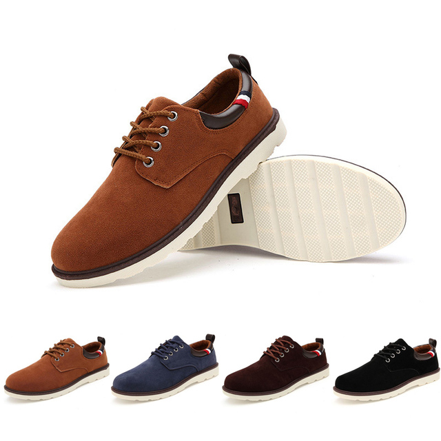 628ed507f07 New 2015 Men Flats Black Fashion Branded Flat Shoes Casual Platform Shoes  Lace-Up Men Suede Shoes Sapatos Masculinos Moccasins