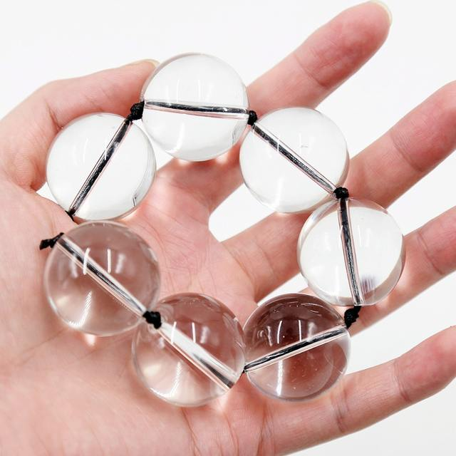 25-28 mm Glass Anal Beads