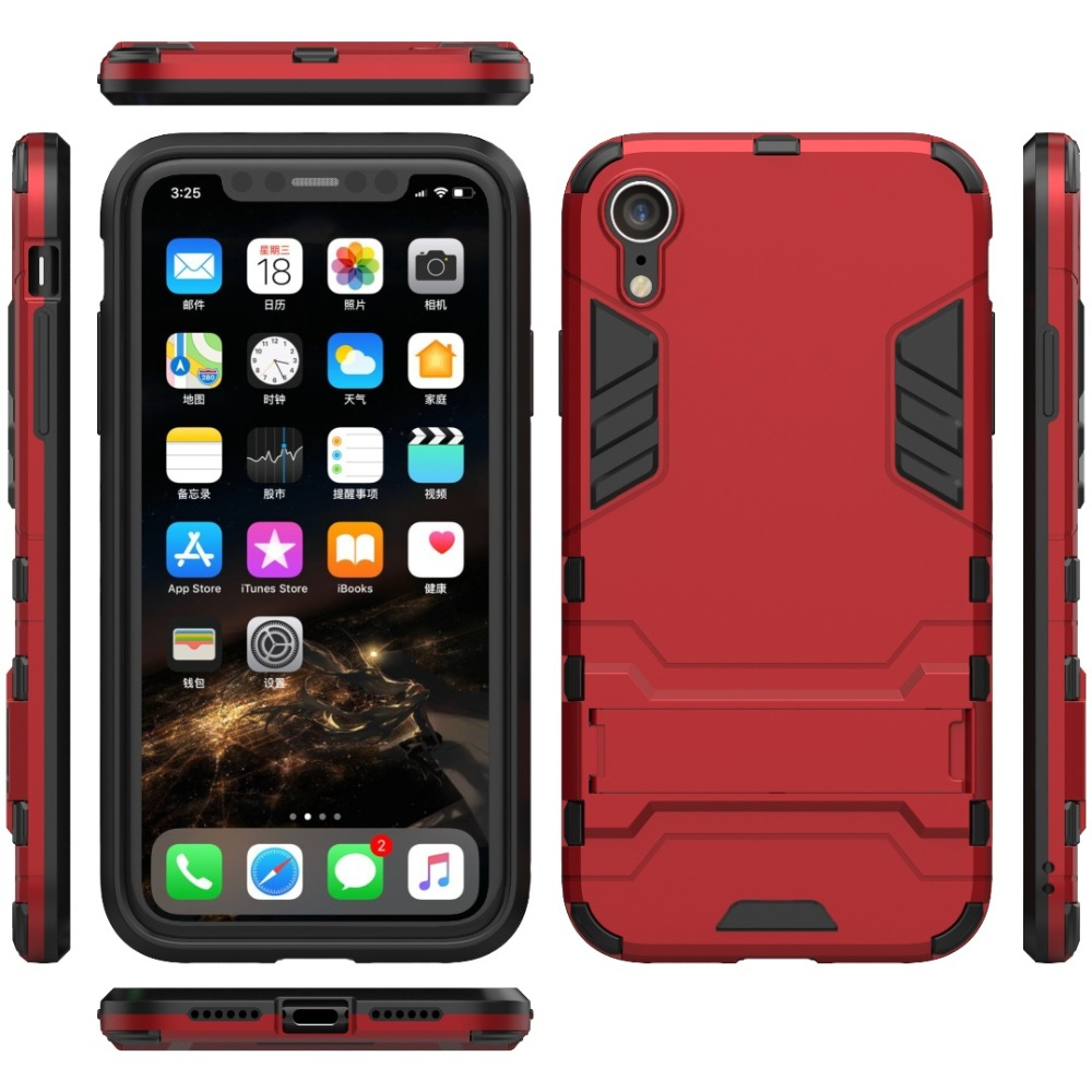 100pcs lot 2 in 1 Hybrid Shockproof cover Armor Case For Iphone Xs max Xr X