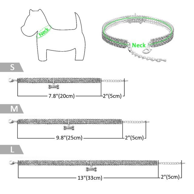 Comfortable Fashion Bling Dog Cat Jewelry Rhinestone Collar Pet  2