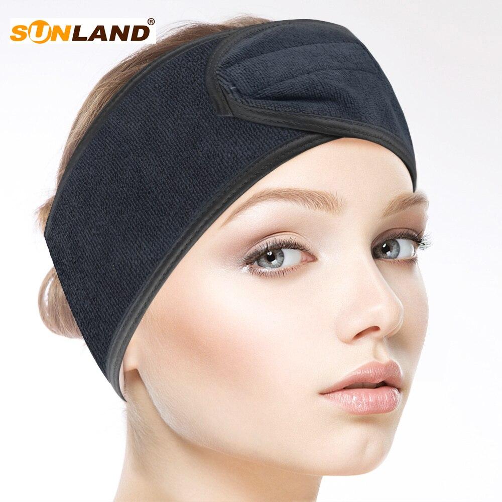 ①  Sinland Microfiber Hair Band Женщины Гибкий Мягкий Макияж Косметический Душ Спа Йога Оголовье 3 Шт.  ★