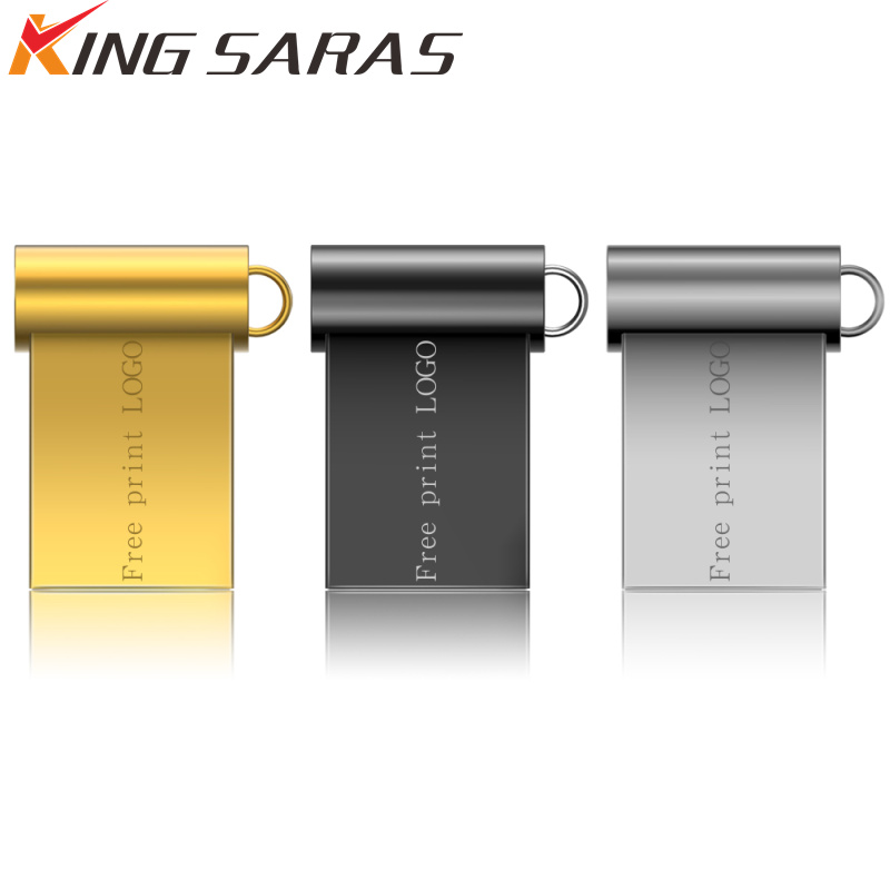 Super Mini Usb Flash Drive 3.0 32GB Metal Usb Stick 128gb Pendrive 8GB Pen Drive 16GB Flash Memory 64GB U Disk 1 Free Print LOGO