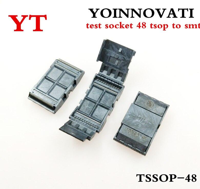 Frete Grátis 1pcs TSOP48 48 TSOP Socket para Testes do Protótipo 0.5 milímetros de melhor qualidade.