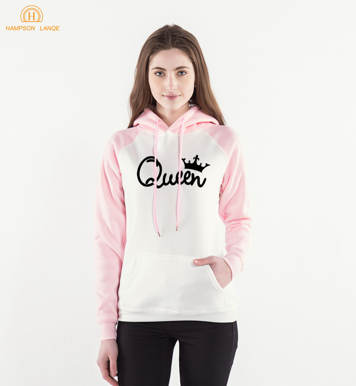 Imperial Crown Queen Print Kawaii Raglan Hoodies 2019 Hot Sale Spring Autumn Women Sweatshirts Warm Fleece Long Sleeve Hooded