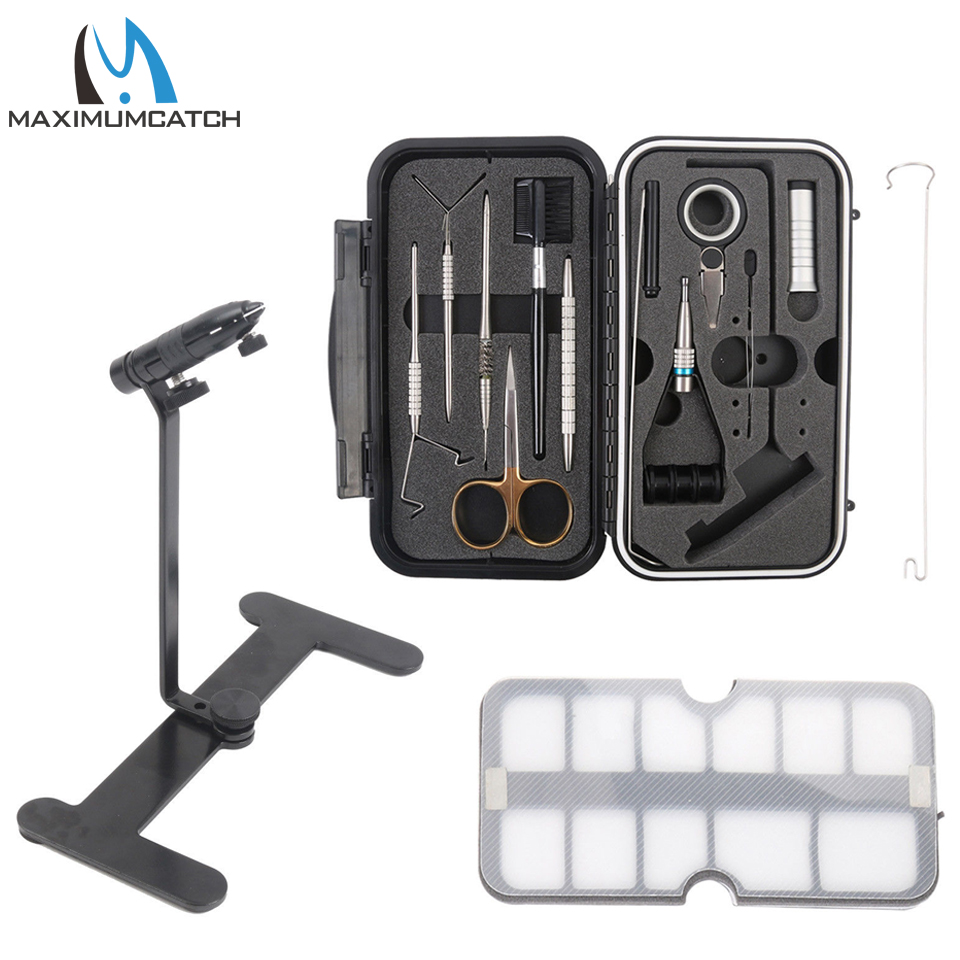 Maximumcatch Compact Fly Tying System Fly Tying Tool Set Vise Traveler Tackle Kit