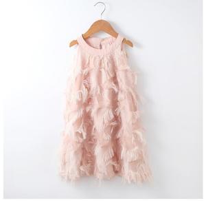 Image 3 - Dopasowane sukienki dla córki matki letnia rodzina pasujące ubrania bez rękawów Tassel Party Family Look mama córka sukienka ubrania