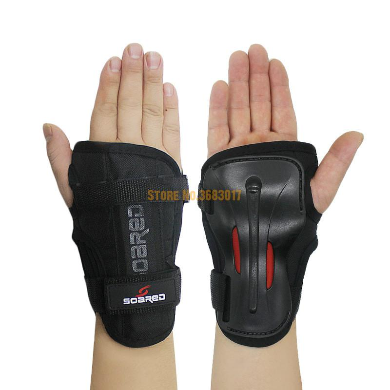 Men Women Wrist Guards Support Palm Pads Protector For Inline Skating Ski Snowboard Roller Gear Protection Child Hand Protector 5pcs in 1 outdoor sports protection skiing hip pad knee pads wrist support palm for roller skating snowboard protection black
