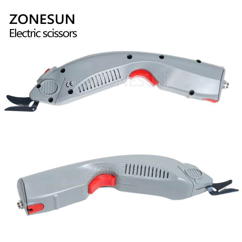 ZONESUN Wireless Electric Scissors Cutter Cutting paper Clothes Fabric Textile leather suitcase trunk trimming cutting edge tool - 4