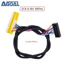 FI X 30Pin 6 Bit 1ch 6bit 30Pins Lvdsสาย400มม.สำหรับLCD LEDแผงควบคุมบอร์ดFI XB30SL HF10