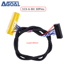 FI X 30Pin Single 6 bit 1ch 6bit 30pins lvds cable 400mm For Universal LCD LED panel controller board FI XB30SL HF10