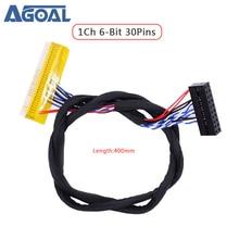 FI X 30pin único 6 bit 1ch 6bit 30 pinos lvds cabo 400mm para universal lcd led painel controlador placa FI XB30SL HF10