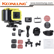 "Sport Action Camera Waterproof Koonlung Cam with 140D Wide Angle Lens 1.5"" Mini HD Digital Recorder Also Car DVR Version"