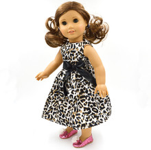 цена Christmas gift 18 inch American Girl Doll cute Clothes dress Fits 18