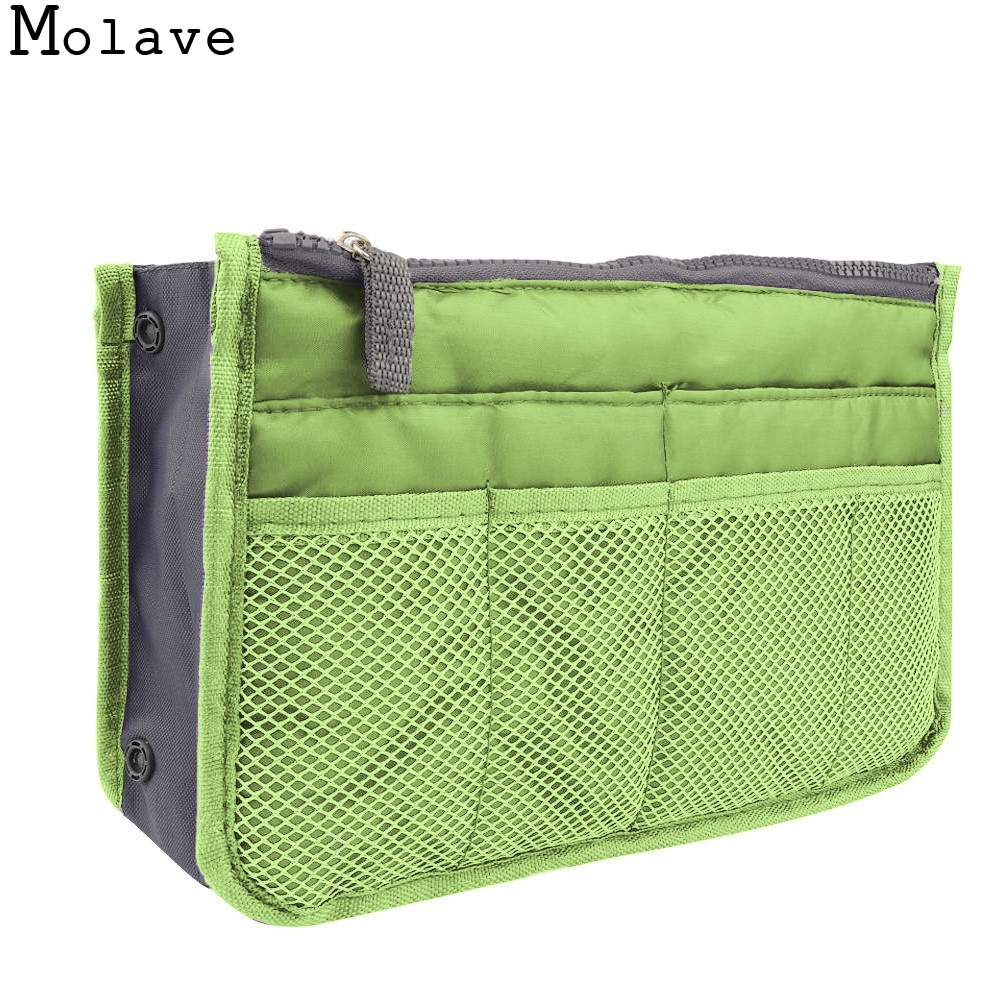 MOLAVE cosmetic bag Double zipper large capacity multi-functional liner storage bag wash bags travel cosmetic bag dec14 functional capacity of mango leave extracts