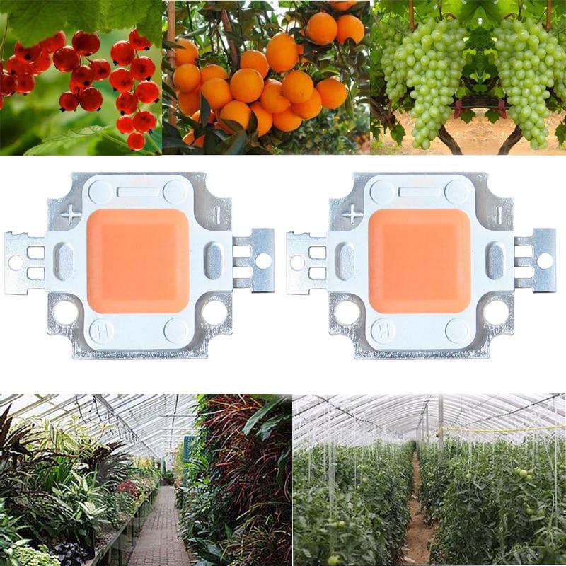 1x 10W COB LED Grow Pflanzen Licht full spectrum 400-840nm 9-10V