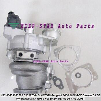 K03 0120 53039880120 53039700120 Turbo Turbocharger untuk Peugeot 207 308 3008 5008 RCZ untuk Citroen DS 3 C4 EP6DT EP6CDT 1.6L THP