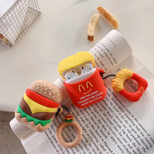 Hamburger chips Silicone Earphone Case For AirPods Bluetooth Wireless Protective Cover Skin Accessory for Airpods Ear Pods Bag